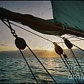 Sicily Sunset Sailing Solwaymaid Poster by Dustin K Ryan