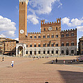 Siena Italy - Piazza del Campo with Palazzo Pubblico Poster by Matthias Hauser