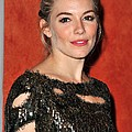 Sienna Miller Wearing A Balmain Dress Poster by Everett