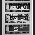 SIGNS OF NEW YORK in BLACK AND WHITE Poster by ROB HANS