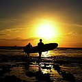 Silhouette Surfers Poster by rolfo