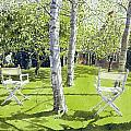 Silver Birches Print by Lucy Willis