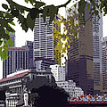 Singapore ... The Lion City  Print by Juergen Weiss