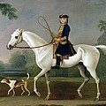 Sir Roger Burgoyne Riding 'Badger' Poster by James Seymour