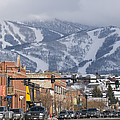 Ski Resort And Downtown Steamboat Poster by Rich Reid