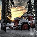 skidder sunrise Print by Heather  Rivet