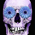 Skull Art - Day Of The Dead 3 Poster by Sharon Cummings