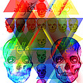 Skulls Illuminate Skulls Print by Kenal Louis