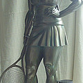 skupture tennis player Poster by Zlatan Stoilov