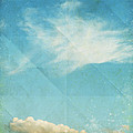 sky and cloud on old grunge paper Print by Setsiri Silapasuwanchai