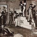 Slave Auction In Virginia Poster by Photo Researchers