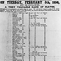 Slave Auction Notice Poster by Photo Researchers