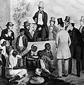 Slavery Auction, In The United States Print by Everett