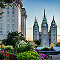 SlC Temple JS Building Print by La Rae  Roberts