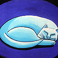 Sleeping Cat Poster by Genevieve Esson