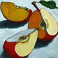 Sliced Apple still life oil painting Poster by Linda Apple