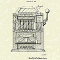 Slot Machine 1932 Patent Art Poster by Prior Art Design