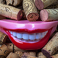 Smile among wine corks Poster by Garry Gay