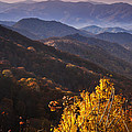 Smoky Mountain Hillsides at Autumn Poster by Andrew Soundarajan