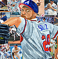 Smoltz Print by Michael Lee