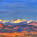 Snow-capped Panorama of The Rockies Print by Scott Mahon