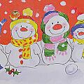 Snow Family Print by Diane Matthes