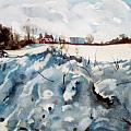 Snow on Southwick Print by Elizabeth Carr