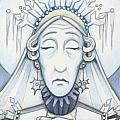 Snow Queen Mum Slumbers Poster by Amy S Turner