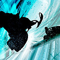 Snowmobiling on Icy Trails Poster by Elaine Plesser