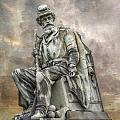 Soldiers National Monument War Statue Gettysburg Cemetery  Print by Randy Steele