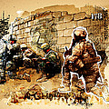 Soldiers on the Wall Poster by Jeff Steed