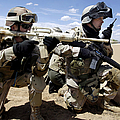 Soldiers Respond To A Threat Print by Stocktrek Images