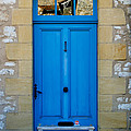 South of France rustic blue door  Poster by Georgia Fowler