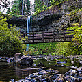 South Silver Falls with Bridge Poster by Darcy Michaelchuk