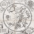 Southern Hemisphere Star Chart, 1537 Print by Middle Temple Library