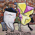 Spanish Tooth Poster by Anthony Falbo
