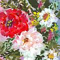Splashy Flowers Poster by Debbie Wassmann