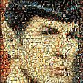 Spock Star Trek Mosaic Poster by Paul Van Scott
