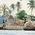 Sponge Fisherman in the Bahama Print by Winslow Homer