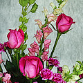 Spray of Flowers Print by Judi Bagwell