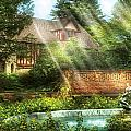 Spring - Garden - The pool of hopes Print by Mike Savad