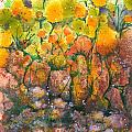 Spring Time Flowers Poster by Audrey Peaty