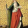 St. Catherine of Alexandria Print by Josse Lieferinxe