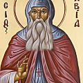 St David of Evia Print by Julia Bridget Hayes