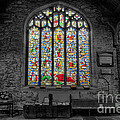 St Dyfnog Window Poster by Adrian Evans