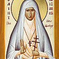 St Elizabeth the New Martyr Print by Julia Bridget Hayes