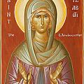 St Elizabeth the Wonderworker Poster by Julia Bridget Hayes