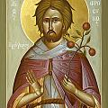 St Euphrosynos the Cook Print by Julia Bridget Hayes