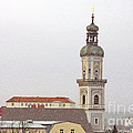St. George in Snow - Freising Bavaria Germany Poster by Christine Till