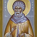 St Moses the Ethiopian Print by Julia Bridget Hayes
